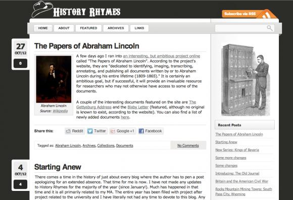 History Rhymes, November 2012