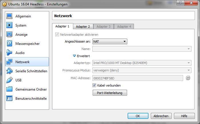 VirtualBox Network Adapter 1