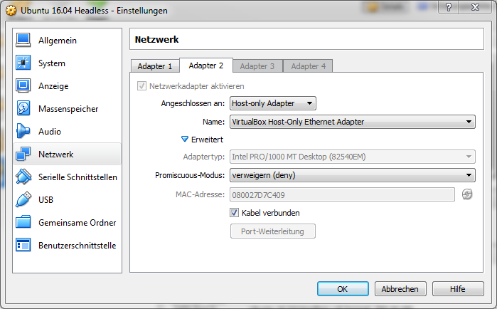 VirtualBox Network Adapter 2