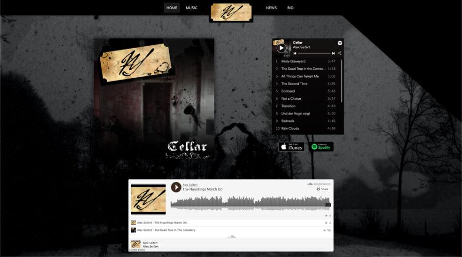 Alex Seifert Music 2020 Redesign